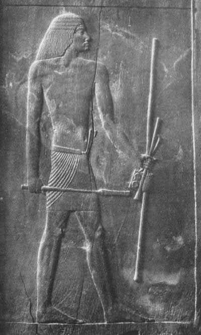 Engraving of Hesire - Imhotep's colleague- on a wooden door in his tomb